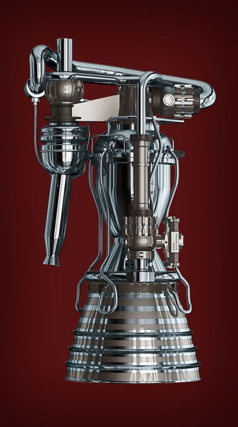 SpaceX Merlin Rocket Engine by Brian Haeger at Coroflot.com