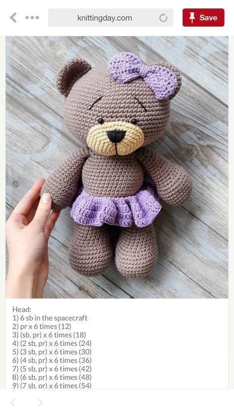 Lovely Teddy Bear Amigurumi - Tutorial #amigurumi #crochet #tutorial #handmade - Salvabrani - Salvabrani