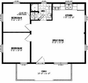 Outstanding 20 X 30 Square Feet House Plan Awesome Inspiring 22 X 40 House Plans 22 X 40 House Pl 20x30 House Plans Metal Homes Floor Plans Cottage Floor Plans