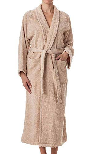White Terry Towelling Bath Robe Dressing Gown 100/% Cotton Large Size Unisex