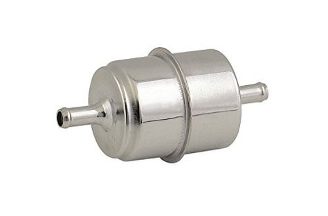 mr  gasket 9745 chrome plated canister fuel filter