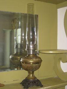 Superior Vintage Aladdin Mantle Lamp Co Oil Kerosene Lamp Light Glass Chimney Brass