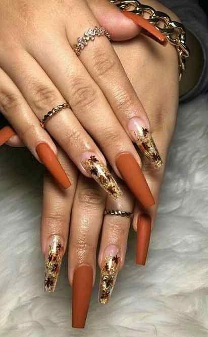 Pin On Nail Art Designs In 2020 Fall Acrylic Nails Cute Nails For Fall Fall Nail Colors