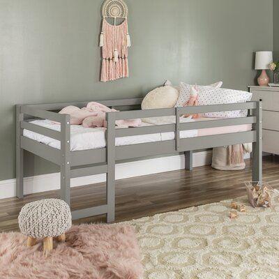 Harriet Bee Kempner Twin Low Loft Bed In 2020 Low Loft Beds Toddler Bed Frame Kids Bed Frames