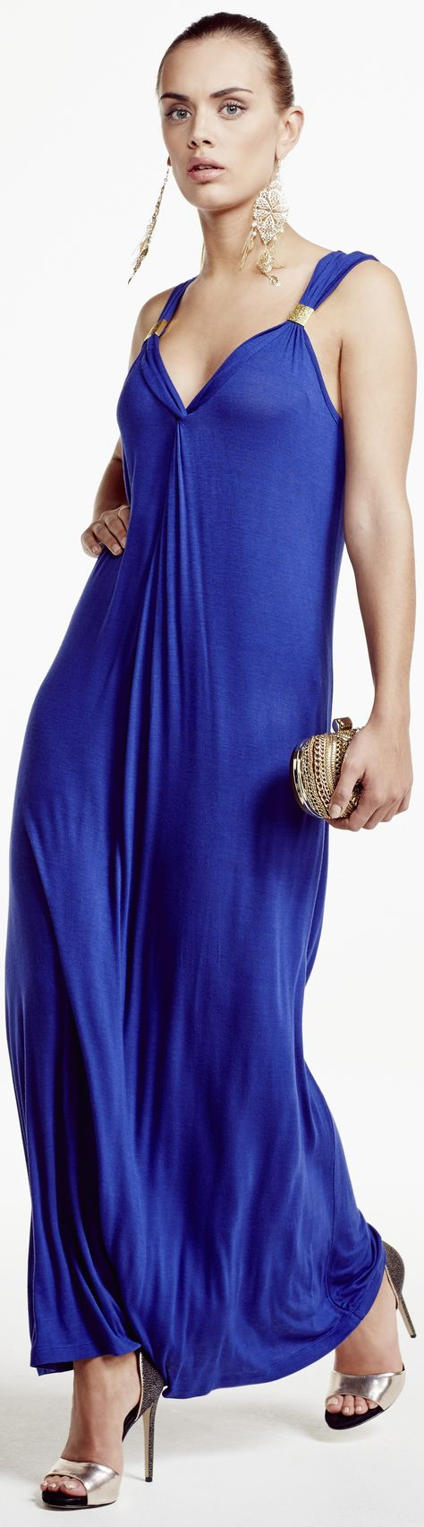 Plus Size Party Dress in Cobalt Blue for 2015 - http://www.boomerinas.com/2013/08/25/top-20-trends-for-fall-2013-the-good-the-bad-and-the-ugly/