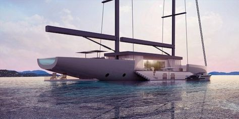 Luxury Glass Sailing Yacht