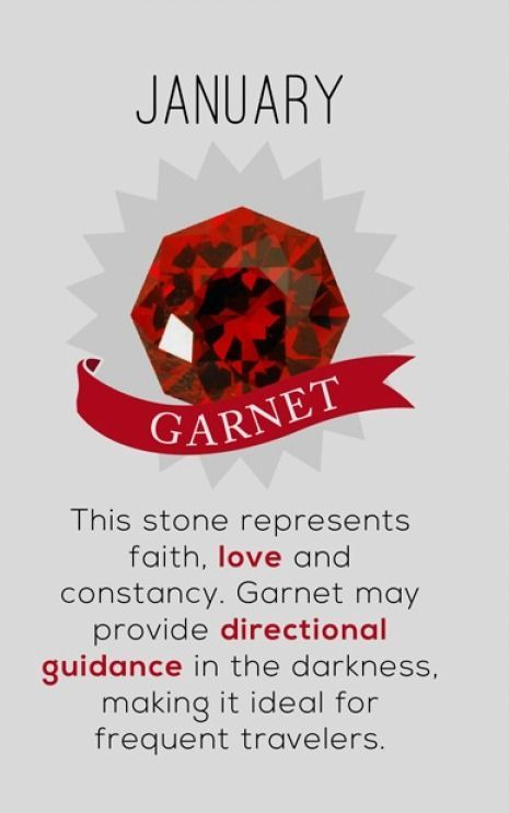 Garnet Is Such A Lovely Stone When You Wear Your Birthstone It Is Considered Your Power Stone Eith Birth Stones Chart Birthstone Colors Birthstones Meanings