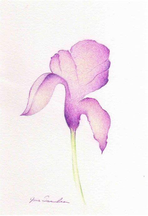 Image Result For Iris Flower Drawing Easy Tatuajes Minimalistas Dibujos Acuarela