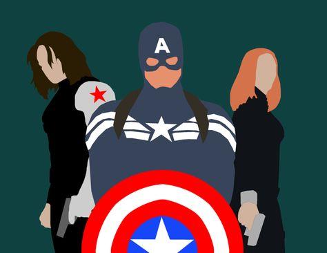 Minimalist Marvel: Captain America: Winter Soldier by MaclimesZero on DeviantArt
