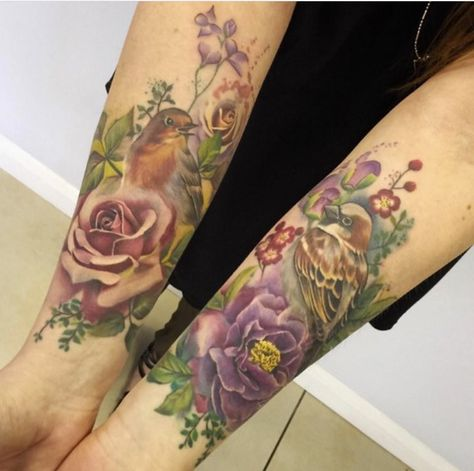 147f3bbf153ba Purely amazing watercolor inspired subtle toned nature piece on forearm