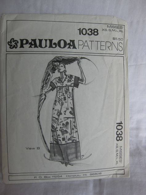 Vintage Hawaiian MuuMuu Dress Pattern. Pauloa 1038 $8.00, via Etsy ...