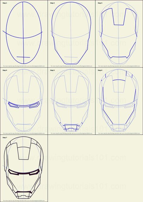 How To Draw Iron Man 10 Step By Step Examples Iron Man Drawing Iron Man Drawing Easy Iron Man Helmet