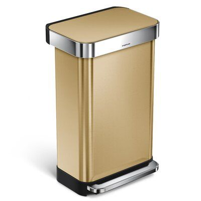 Simplehuman 12 Gallon Step On Trash Can Kitchen Trash Cans