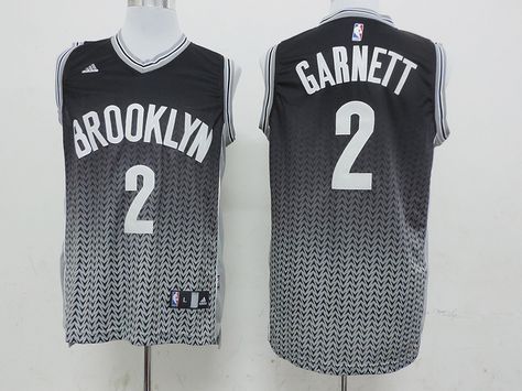 c16a85f89d3d Men s NBA Brooklyn Nets  2 Garnett Fading Jersey