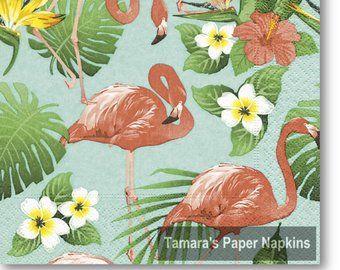 4x Paper Napkins for Decoupage Decopatch Craft Tropical Sloth