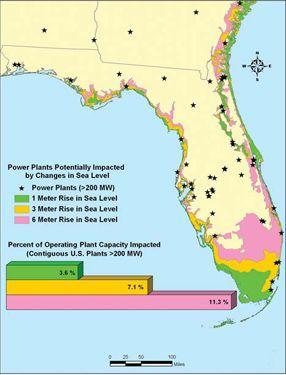 Florida Nuclear Power Plants Map  Reads  Pinterest  Sea level