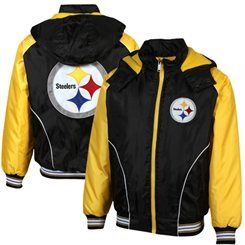 8aadfd197 Pittsburgh Steelers Tailgate Transition Jacket - Black Gold ...