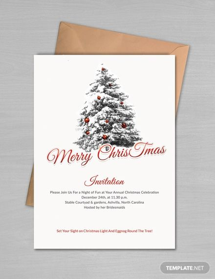 Simple Merry Christmas Invitation Template Free Pdf Word Doc Psd Apple Mac Pages Publisher Outlook Free Christmas Invitation Templates Christmas Invitations Template Christmas Party Invitation Template