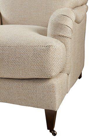 Brampton Club Chair Beige Herringbone 1 495 00 Club Chairs