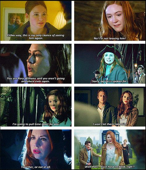 When the universe tells Amelia Pond she can't keep Rory Williams, Amelia Pond tells the universe to go hang. // Doctor Who Doctor Who, Eleventh Doctor, Tardis, Space Man, Tv, Rory Williams, Amy Pond, Don't Blink, Geronimo