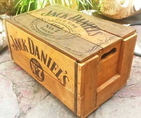 Vintage Apple Crate Cageot en bois avec couvercle