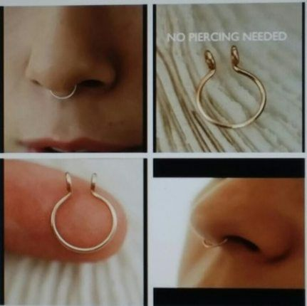 68 Ideas Piercing Falsos Oreja Piercing Brincos Artesanais