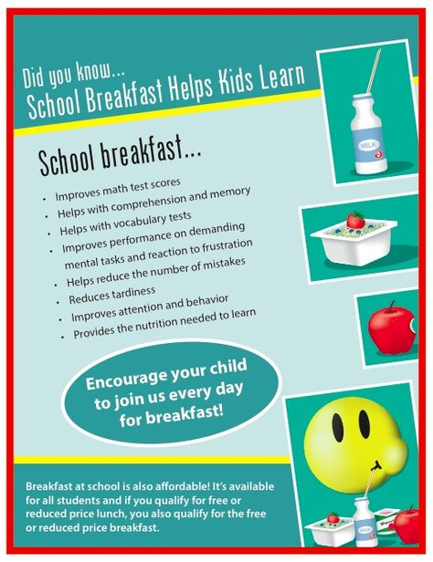 First Fuel Lists Benefits Of Breakfast For Students School