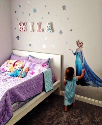 Frozen Toddler Room Makeover Themed Kids Room Frozen Theme Room Frozen Room Decor