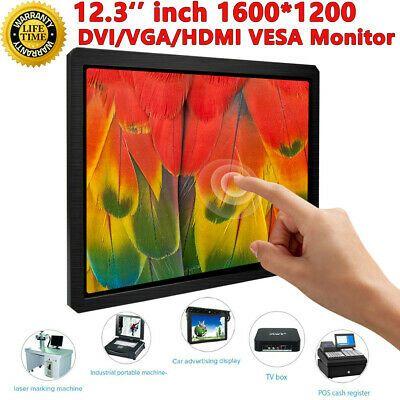 Details About 12 3 Inch 1600x1200 Touchscreen Industrial Equipment Display Hdmi Vga Dvi In 2020 Hdmi Vga Dvi