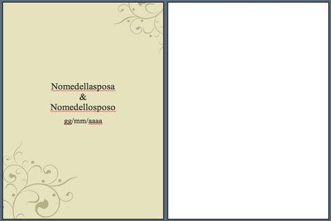 Libretto Matrimonio Modelli Word Da Scaricare E Stampare