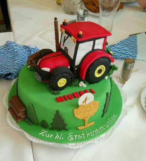 Traktor Torte Zur Erstkommunion Motivtorten Torten Zur Erstkommunion