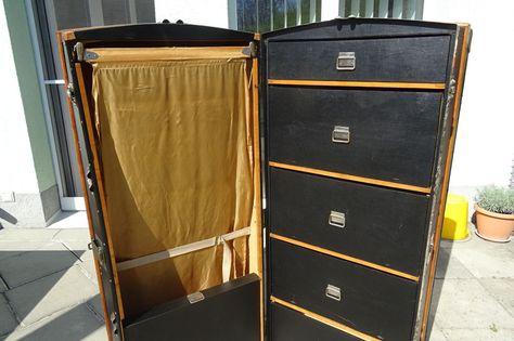Details Zu Vintage Xxl Luggage Schrankkoffer Requisiten Diva