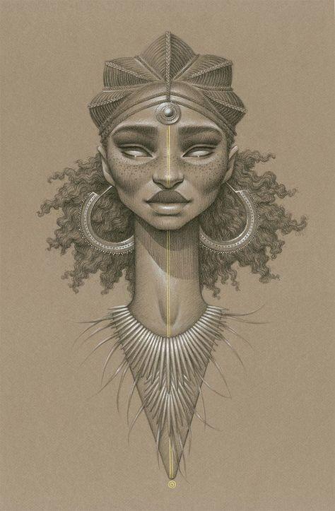 """Sara est une artiste qui réalise d'incroyables portraits de déesses du soleil, méticuleusement réalisés au fusain. Intitulée """"Sundust"""", cette série de dessins met en avant ces femmes afin de faire face à la prédominance masc..."""
