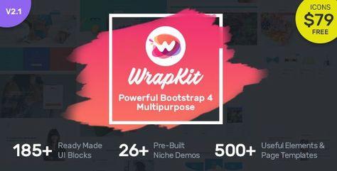 WrapKit — Bootstrap 4 Multipurpose Template | Stylelib
