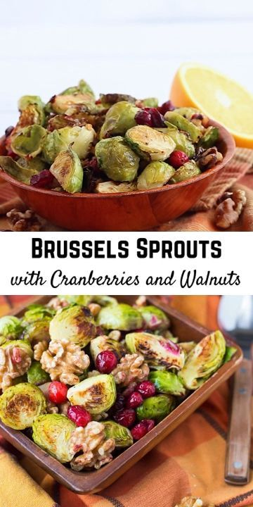 These Brussels Sprouts With Cranberries And Walnuts Will Be The Perfect Addition To Your T Brussel Sprouts Brussel Sprouts Cranberries Whole Foods Thanksgiving