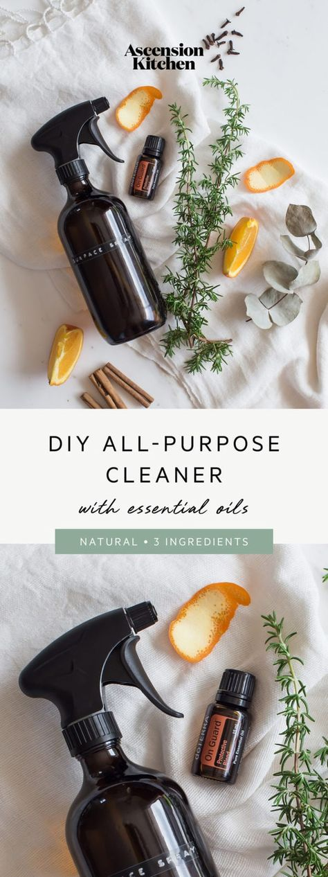 3 ingredient natural DIY all-purpose cleaner with vinegar and essential oils. Gr… 3 ingredient natural DIY all-purpose cleaner with vinegar and essential oils. Green Cleaning Recipes, Natural Cleaning Recipes, Homemade Cleaning Products, Cleaning Tips, Cleaning Supplies, Kitchen Cleaning, Vinegar For Cleaning, Green Cleaning Products, Essential Oil Cleaner