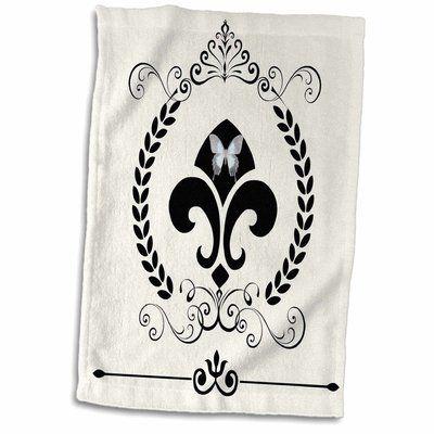 East Urban Home Fleur De Lis French Decor Tea Towel Tea Towels