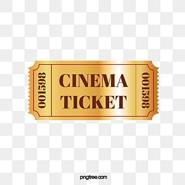 Movie Tickets Vector Material Golden Golden Movie Ticket Vector Png And Vector With Transparent Background For Free Download Ticket Design Cinema Ticket About Time Movie