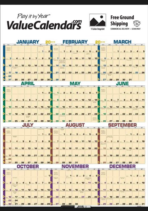 2017 Time Management Span-A-Year (Laminated) Calendar 27\