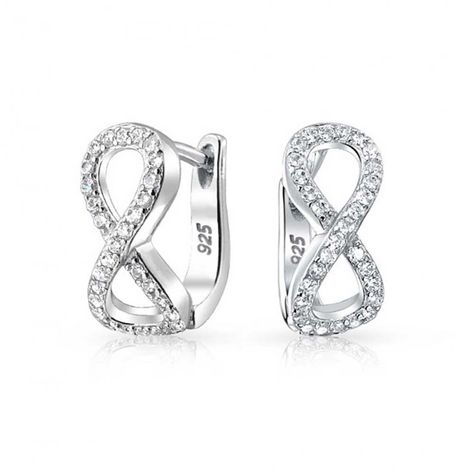 Sterling Silver 92.5 Infinity Figure of 8 Stud Earrings ***NEW***