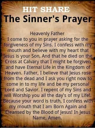 ♥ ✞ Sinners Prayer