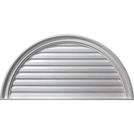 36 W X 18 H X 2 5 8 P Half Round Gable Vent Louver Non Functional Walmart Com In 2020 Gable Vents Ekena Millwork Millwork
