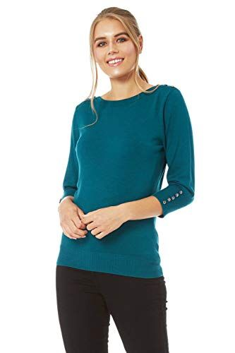 Roman Originals Womens Boat Neck Jumper Sweater