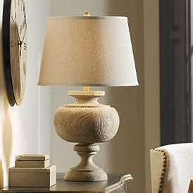 Love The Wood Lamp Base On This Table Lamp Kathy Ireland Grand Maison Grey Table Lamp Grey Table Lamps Grey Table Table Lamp