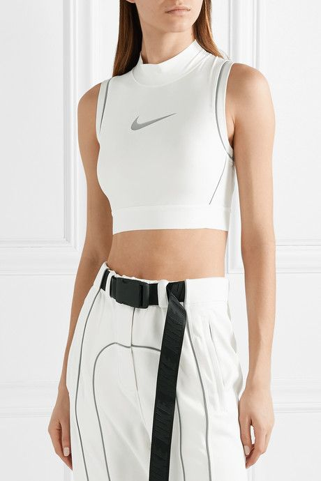 Ambush Nrg Cropped Printed Stretch Jersey Top | Clothes