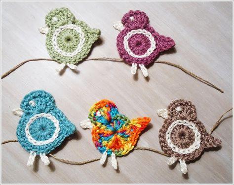 Crochet Birds - Tutorial (Use Google Translator) ❥ 4U // hf