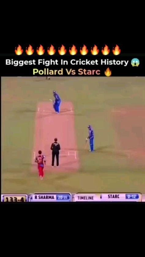 mitchel starc vs kiren pollard fight - cricket fight