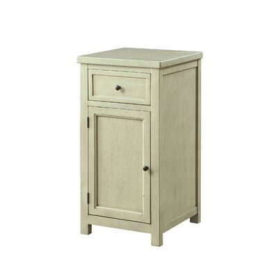 August Grove Nick End Table With Storage Colour White In 2020