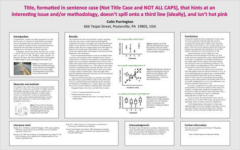 Tips on poster design, disguised as a poster Get PDF at http - research poster