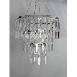 3 Tiered Faux Crystal Chandelier Acrylic Chandelier Event Decor Direct Beaded Chandelier
